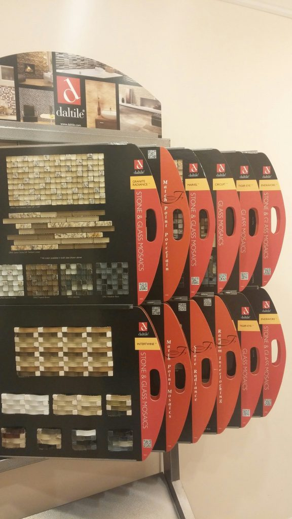 daltile Fanfare mosaic tile is great for backsplash application or to accent an area