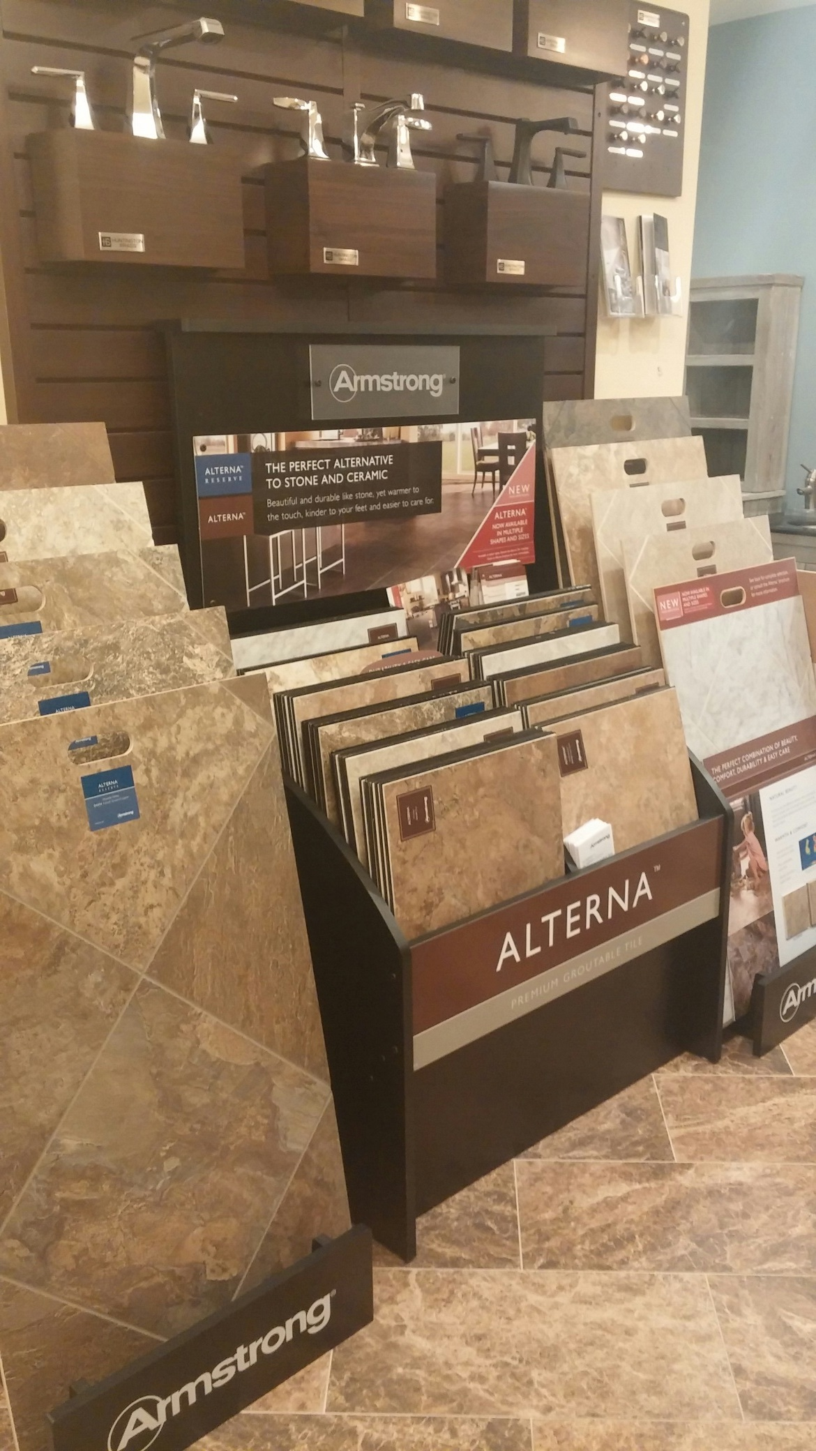 Alterna Luxury Vinyl Tile by Armstrong is easy to maintain and comfortable on your feet.