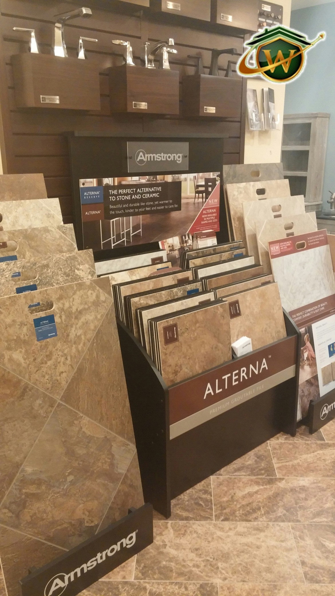 44. Alterna Luxury Vinyl Tile by Armstrong is easy to maintain and comfortable on your feet.