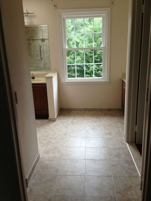 Bathroom Renovation - Tile Flooring