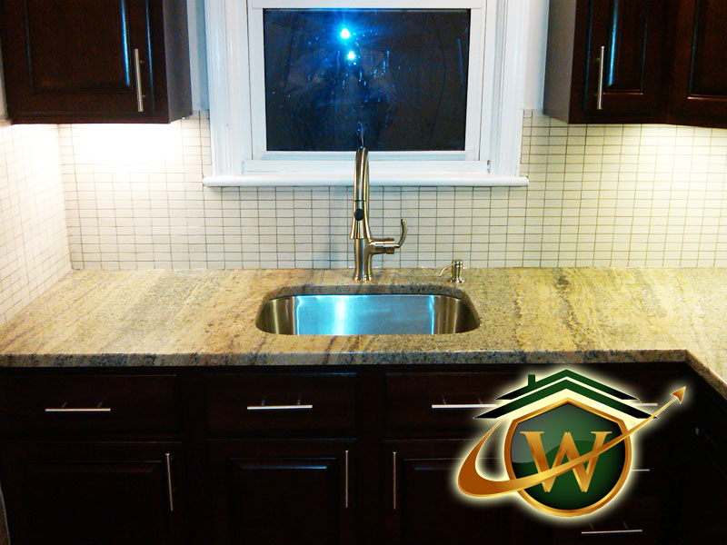 Sink and Granite Countertop After Maryland Remodel