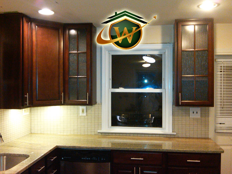 Granite Kitchen Countertops and Tile Backsplash