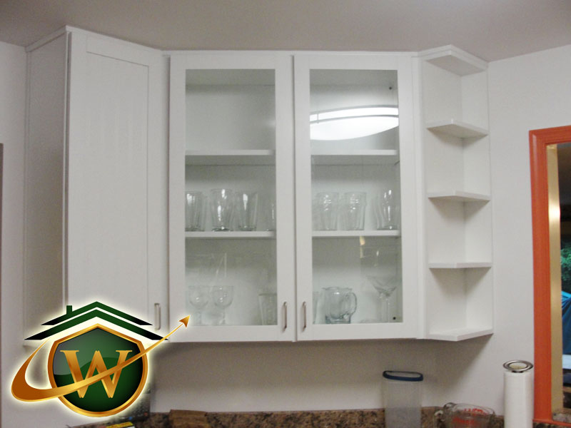 Kitchen Remodeling - Glass Cabinet