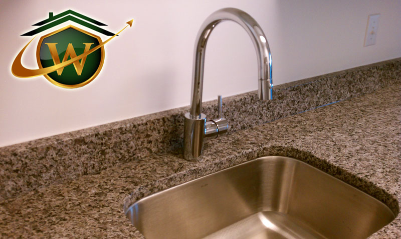 Kitchen Sink and Granite Countertops