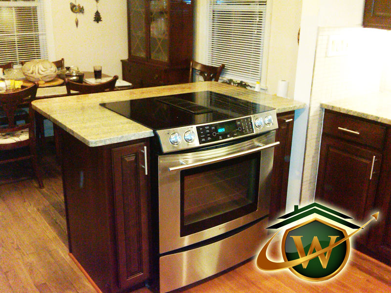 Kitchen Renovation - Smooth Top Range and Granite Countertops