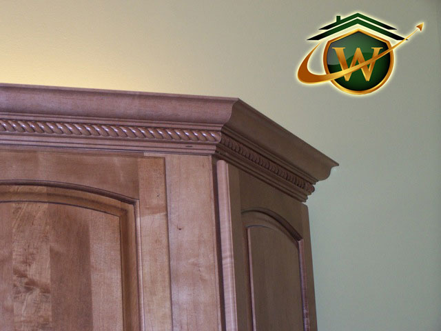 Wooden Cabinets - Carved Molding