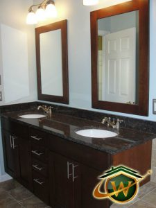 bath - 1040<br>Bathroom Counter and Mirror Remodeling