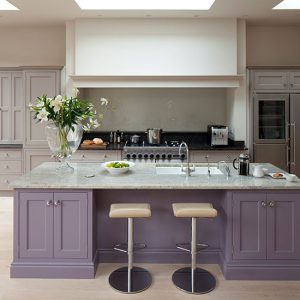 Purple & Gray Kitchen